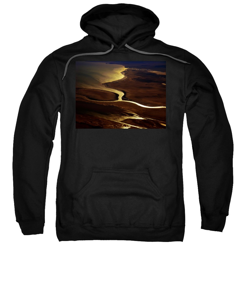 River Sweatshirt featuring the photograph Colorado River Delta by Strato ThreeSIXTYFive