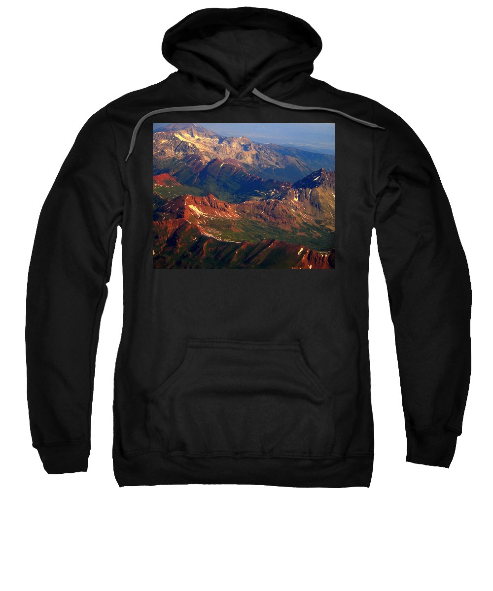 Nature Sweatshirt featuring the photograph Colorado Rocky Mountains by James BO Insogna