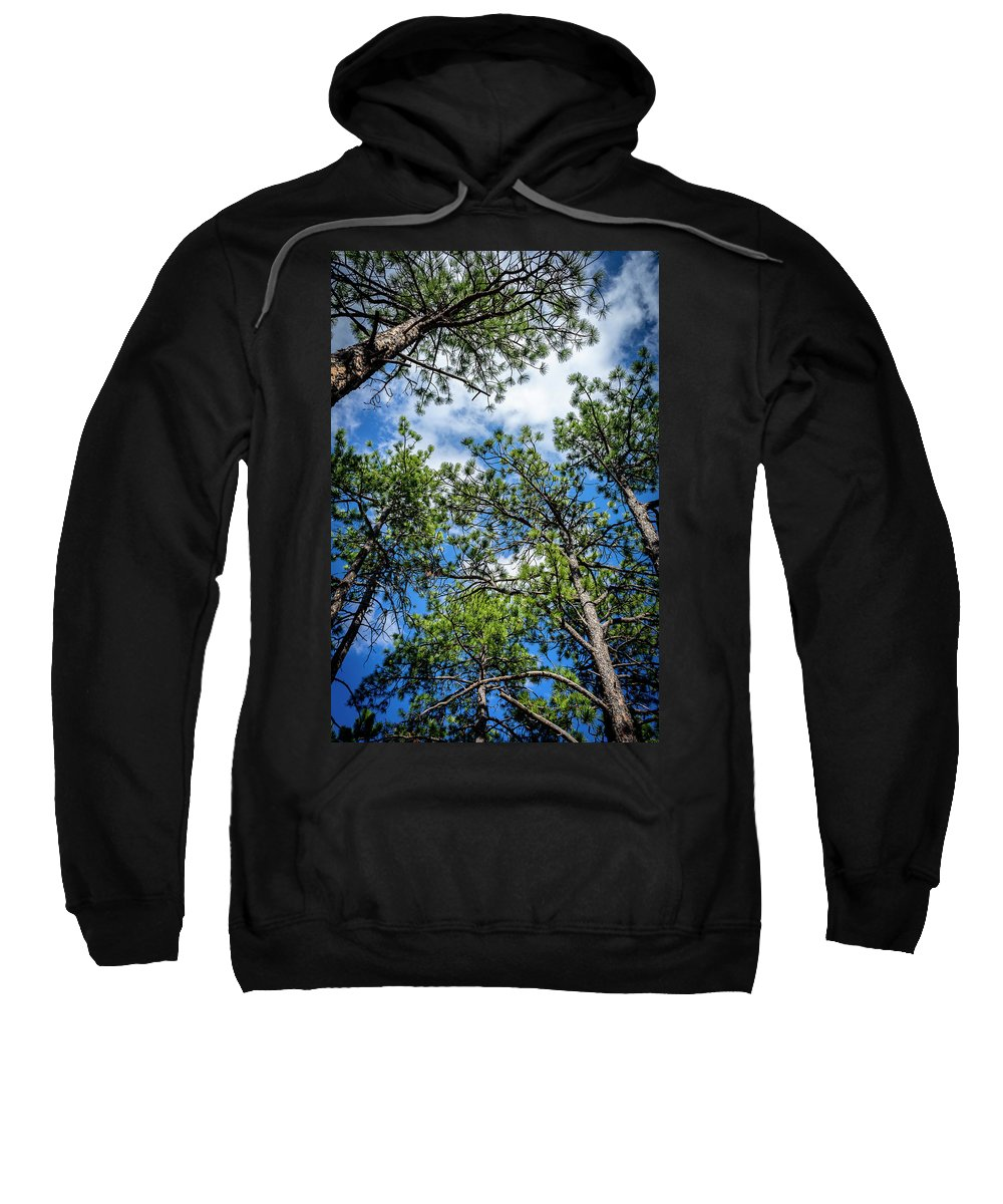 Trees Sweatshirt featuring the photograph Colorado Skies by Paul Pedroza