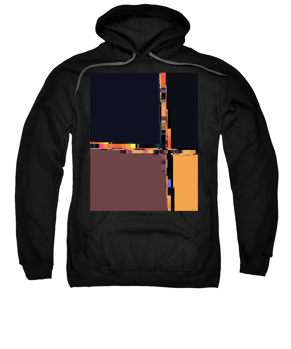 Abstract Sweatshirt featuring the digital art Colorchart Abstract by Lenore Senior