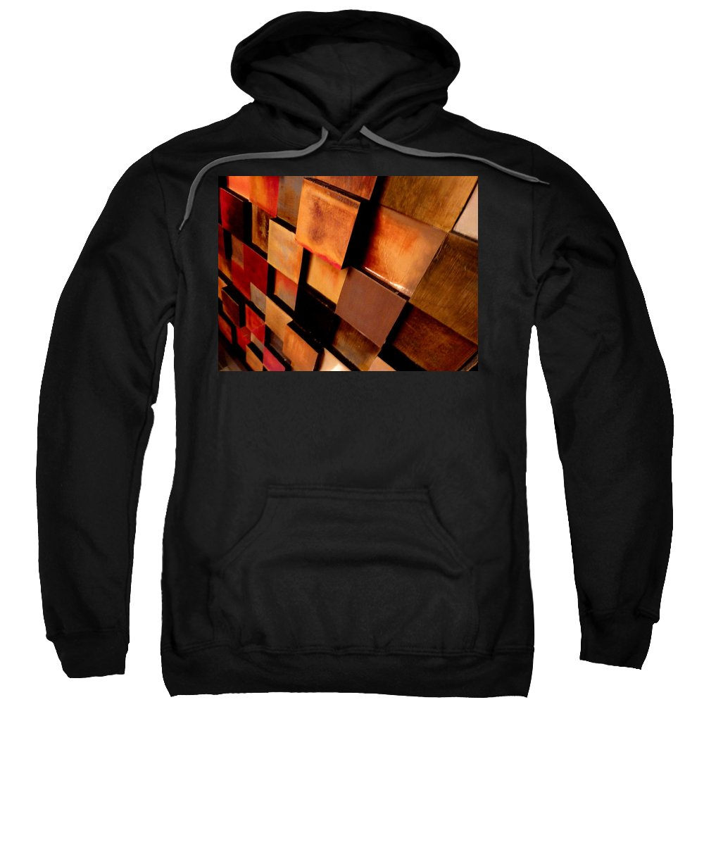 Sweatshirt featuring the photograph Colored Squares by Angela Wright