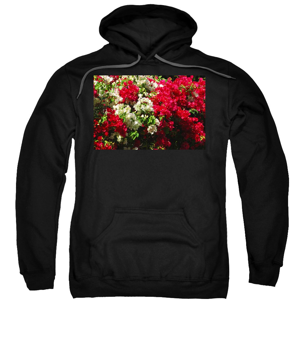Bougainvilleas Sweatshirt featuring the photograph Colorful Bougainvilleas by Susanne Van Hulst