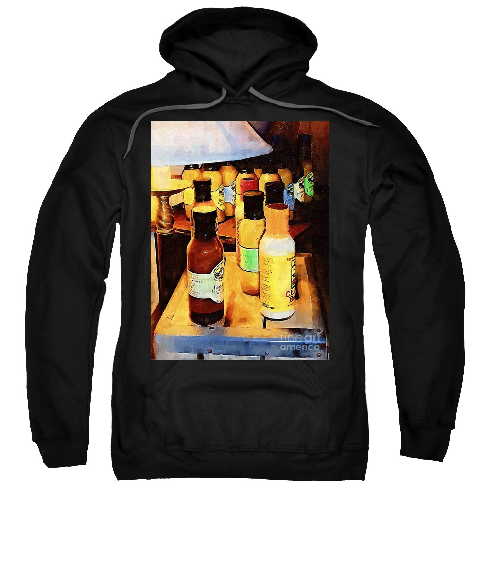 Bottles Sweatshirt featuring the painting Colorful Culinary Collection by RC DeWinter