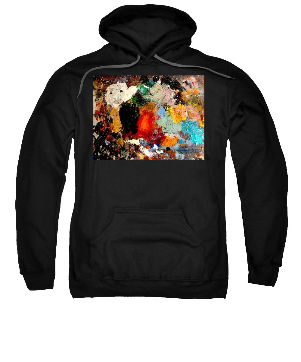 Abstract Sweatshirt featuring the painting Colorful Expressions by Natalie Holland