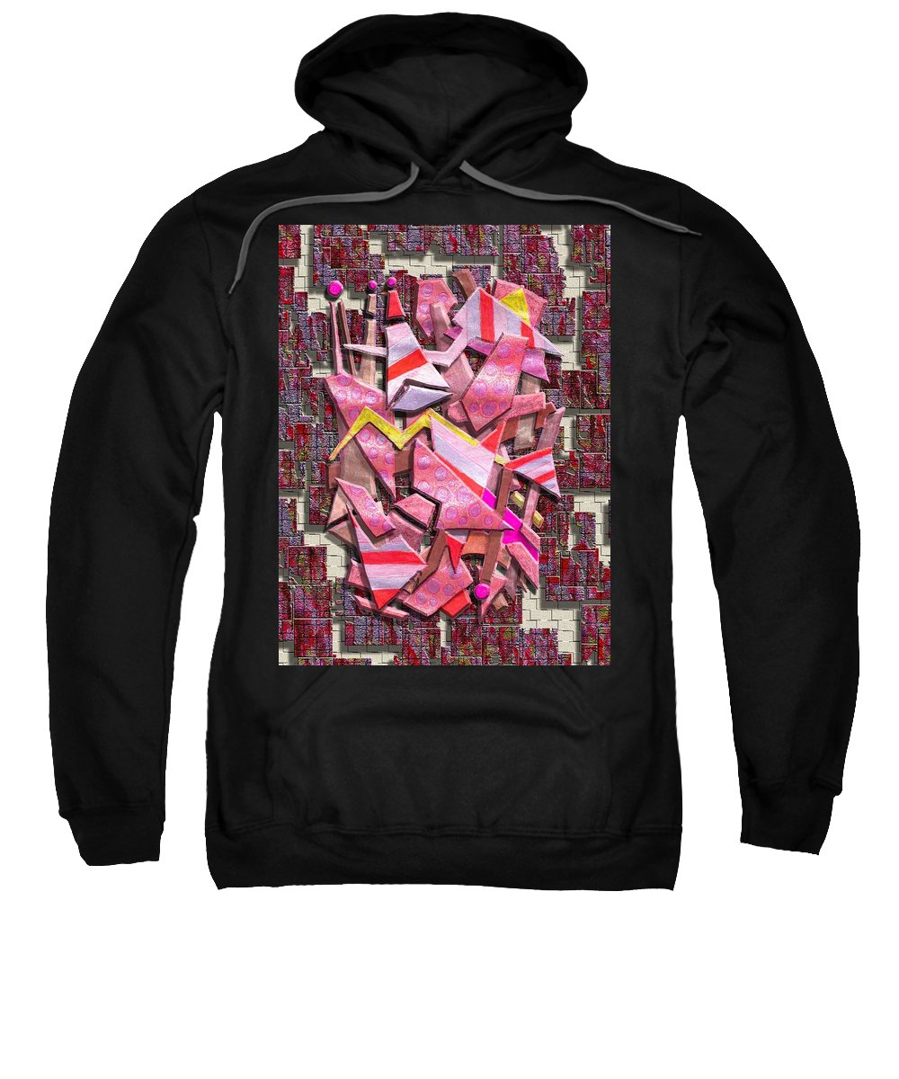 Abstract Sweatshirt featuring the digital art Colorful Scrap Metal by Mark Sellers
