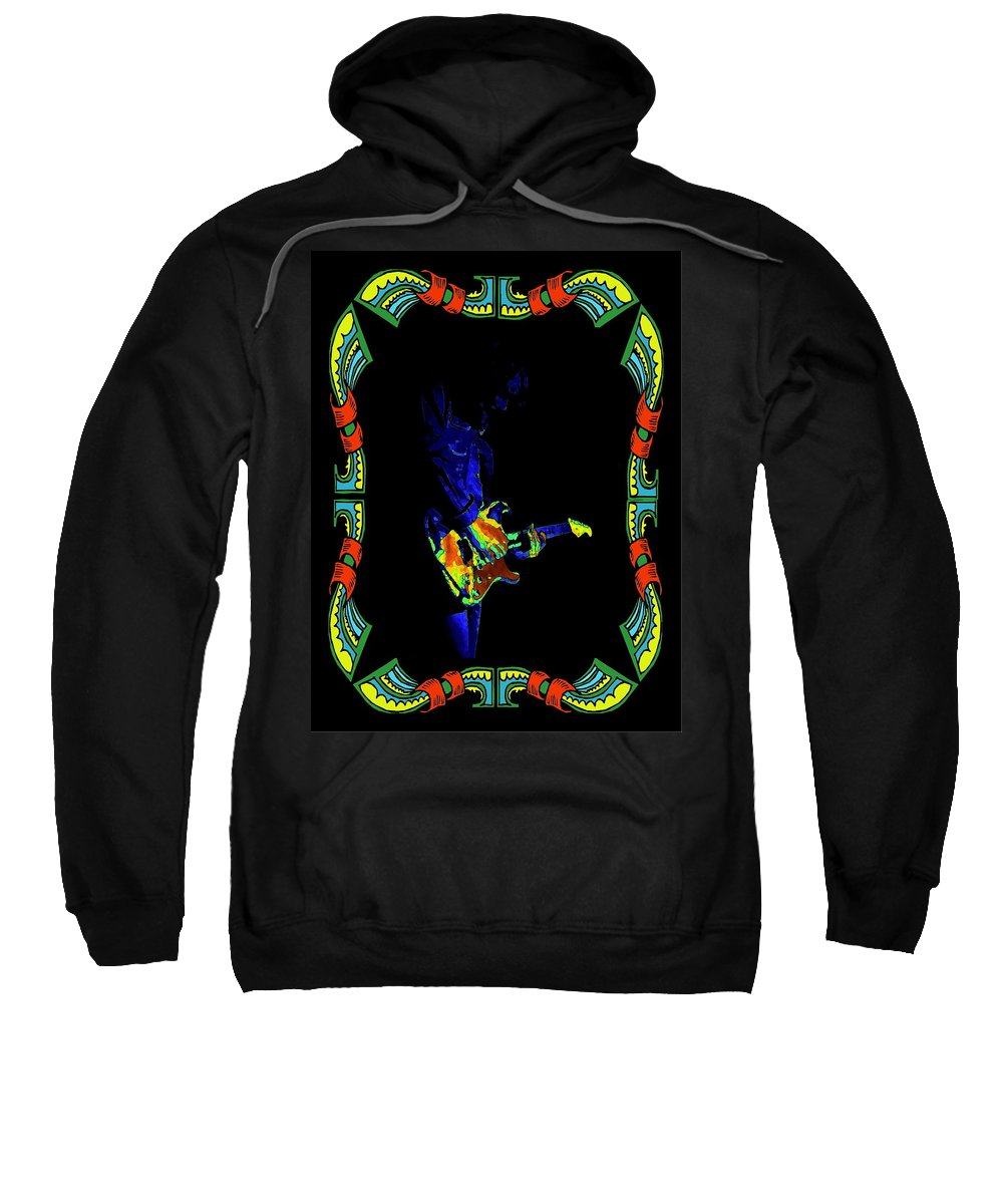Rory Gallagher Sweatshirt featuring the photograph Colorful Slide Playing by Ben Upham