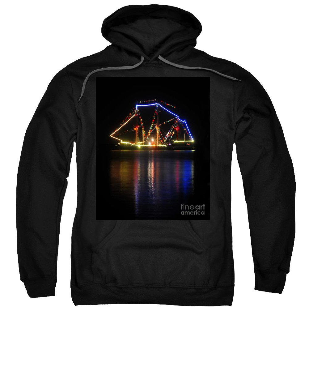 Gasparilla Pirate Fest Sweatshirt featuring the photograph Colors Of Gasparilla by David Lee Thompson