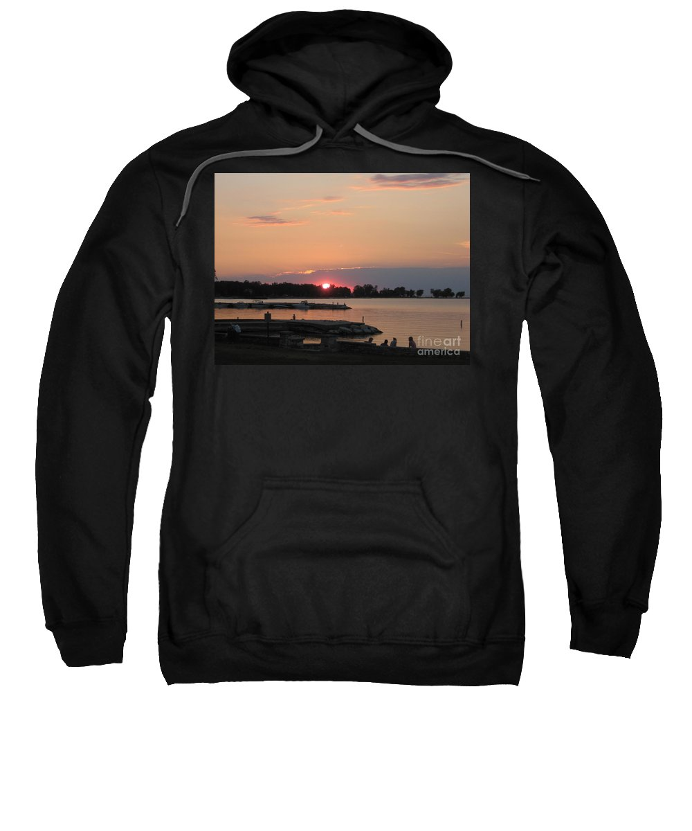 Landscape Sweatshirt featuring the photograph Colors On The Water by Kristen Sanders