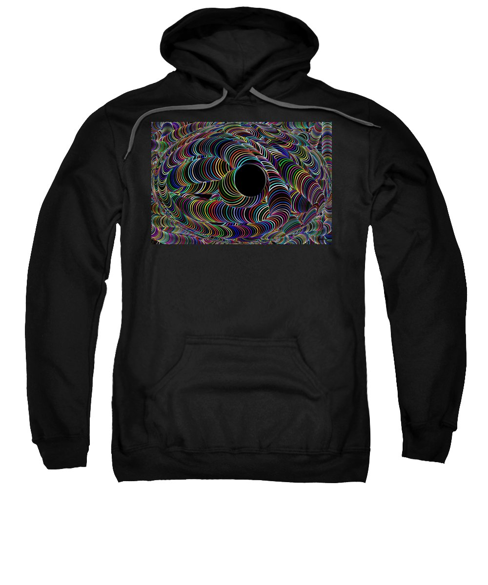 Rainbow Color Colour Abstract Neon Black Light World Colorful Colourful Digital Sweatshirt featuring the digital art Colour My World by Andrea Lawrence