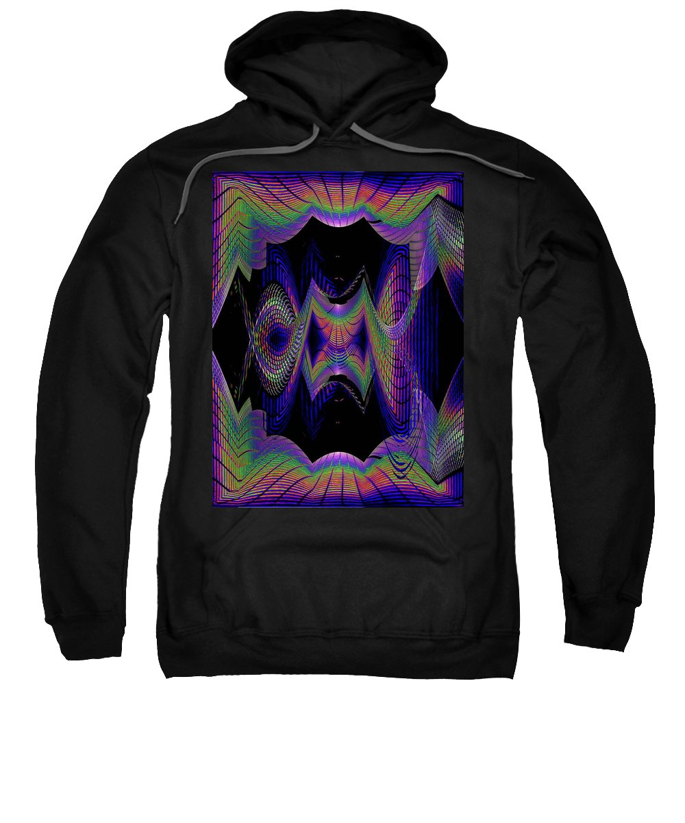 Seattle Sweatshirt featuring the digital art Columbia Tower Vortex 2 by Tim Allen