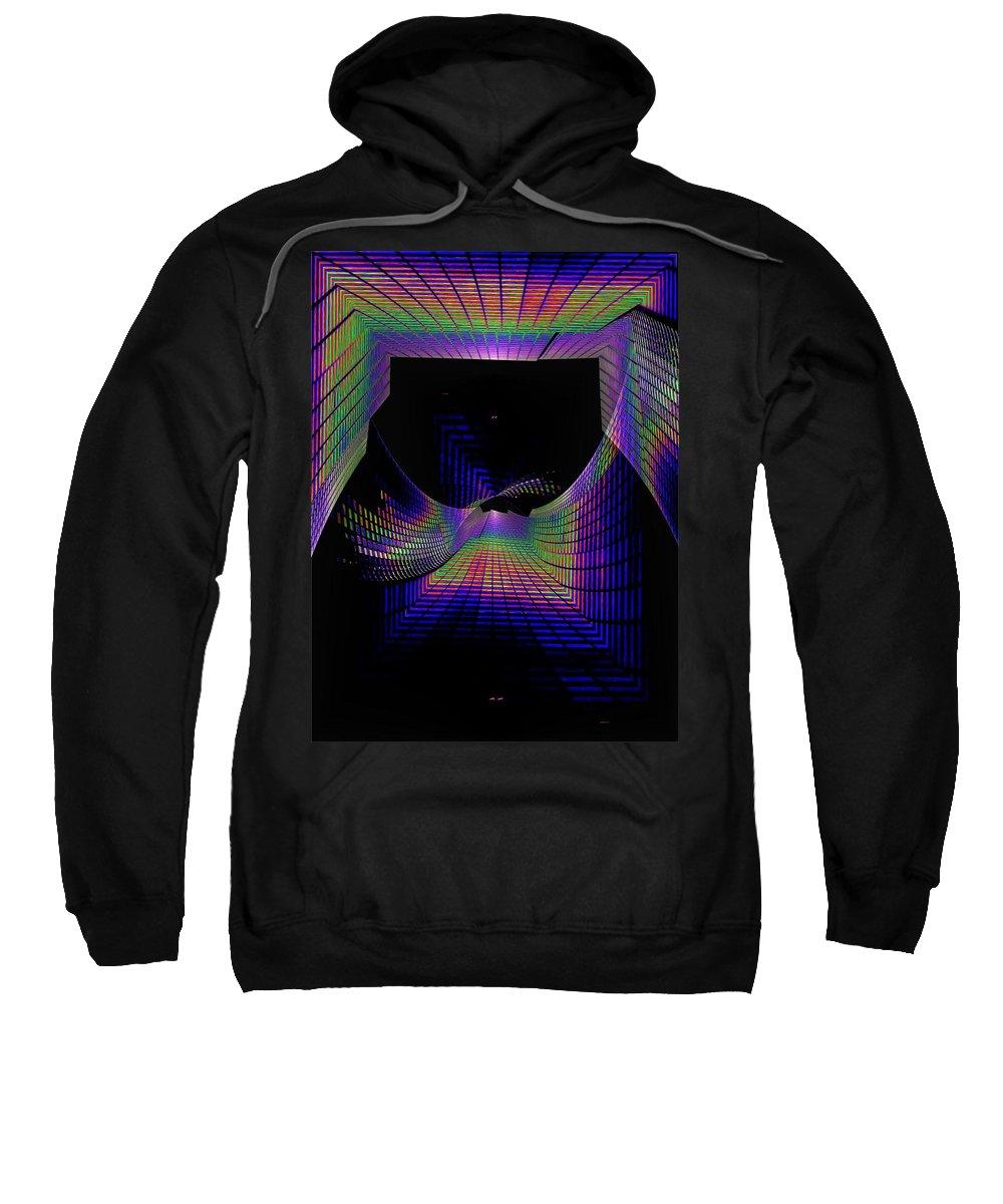 Seattle Sweatshirt featuring the digital art Columbia Tower Vortex by Tim Allen