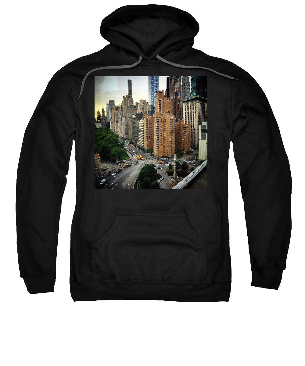 Columbus Circle Sweatshirt featuring the photograph Columbus Circle by Joseph Mari