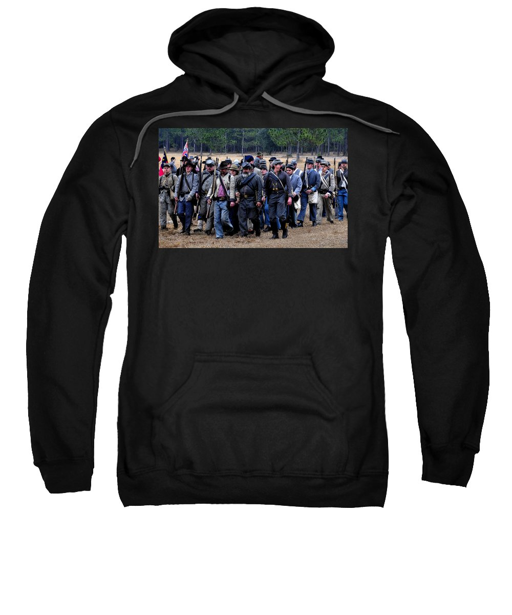 Commander Sweatshirt featuring the painting Commanding The Troops by David Lee Thompson