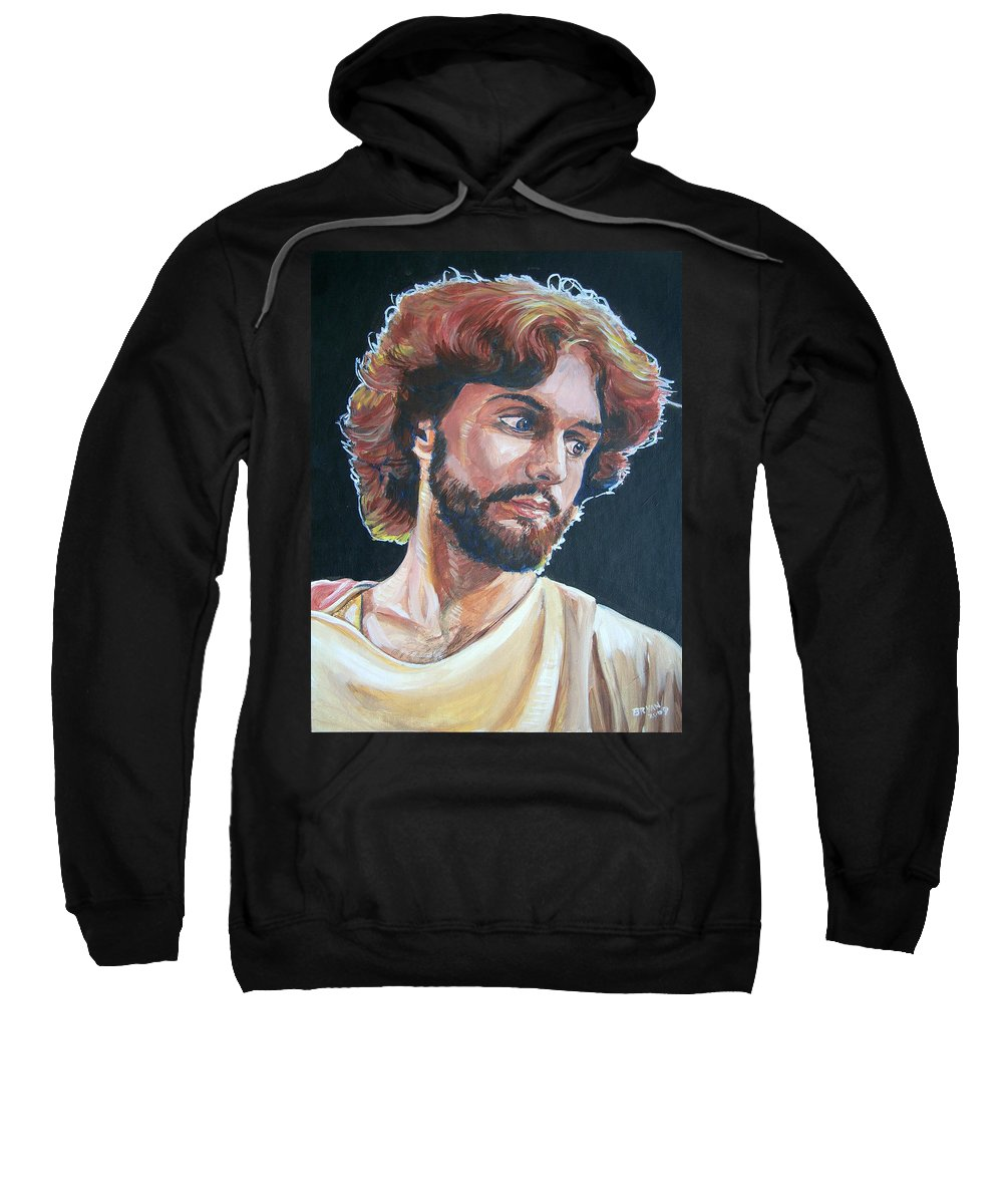 Jesus Christ Sweatshirt featuring the painting Compassionate Christ by Bryan Bustard