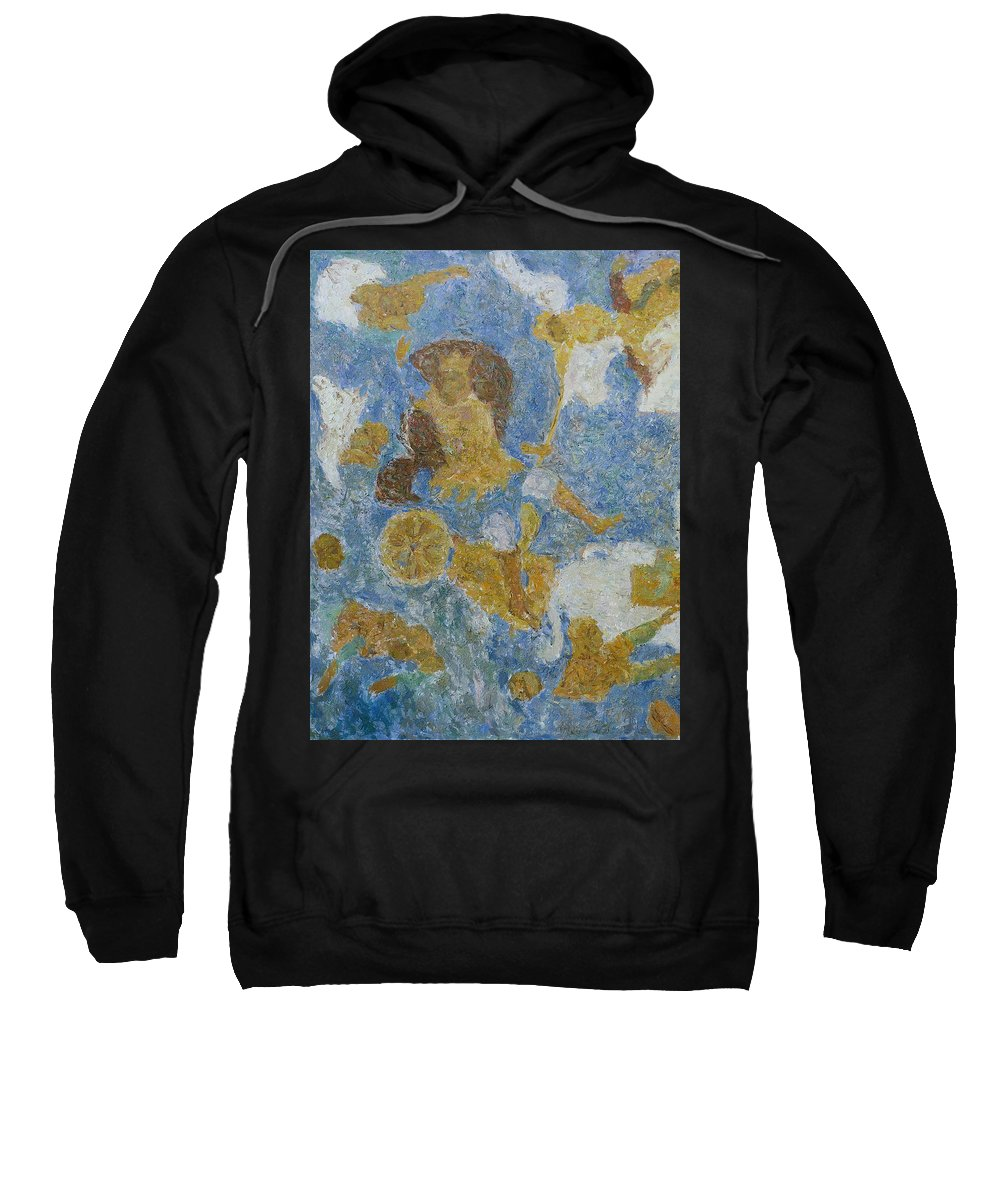Pharaoh Sweatshirt featuring the painting Exodus by Robert Nizamov