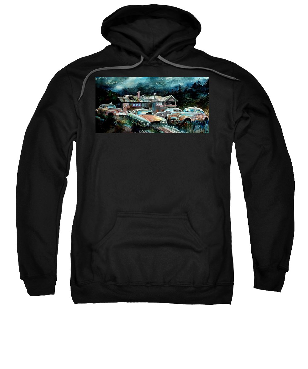 House Sweatshirt featuring the painting Compound In Cumberland Gap by Ron Morrison