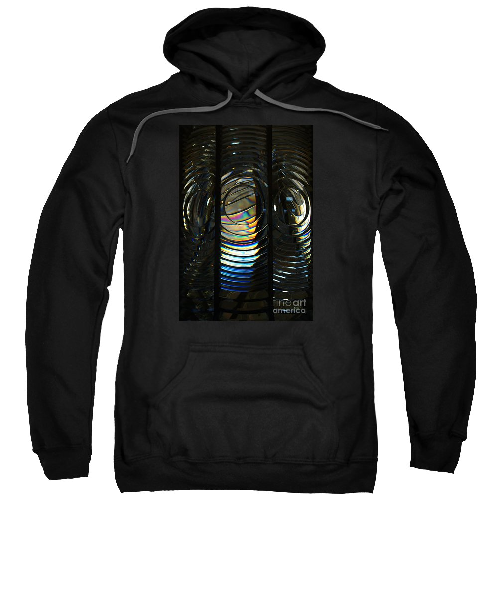 Abstract Sweatshirt featuring the photograph Concentric Glass Prisms by Linda Shafer
