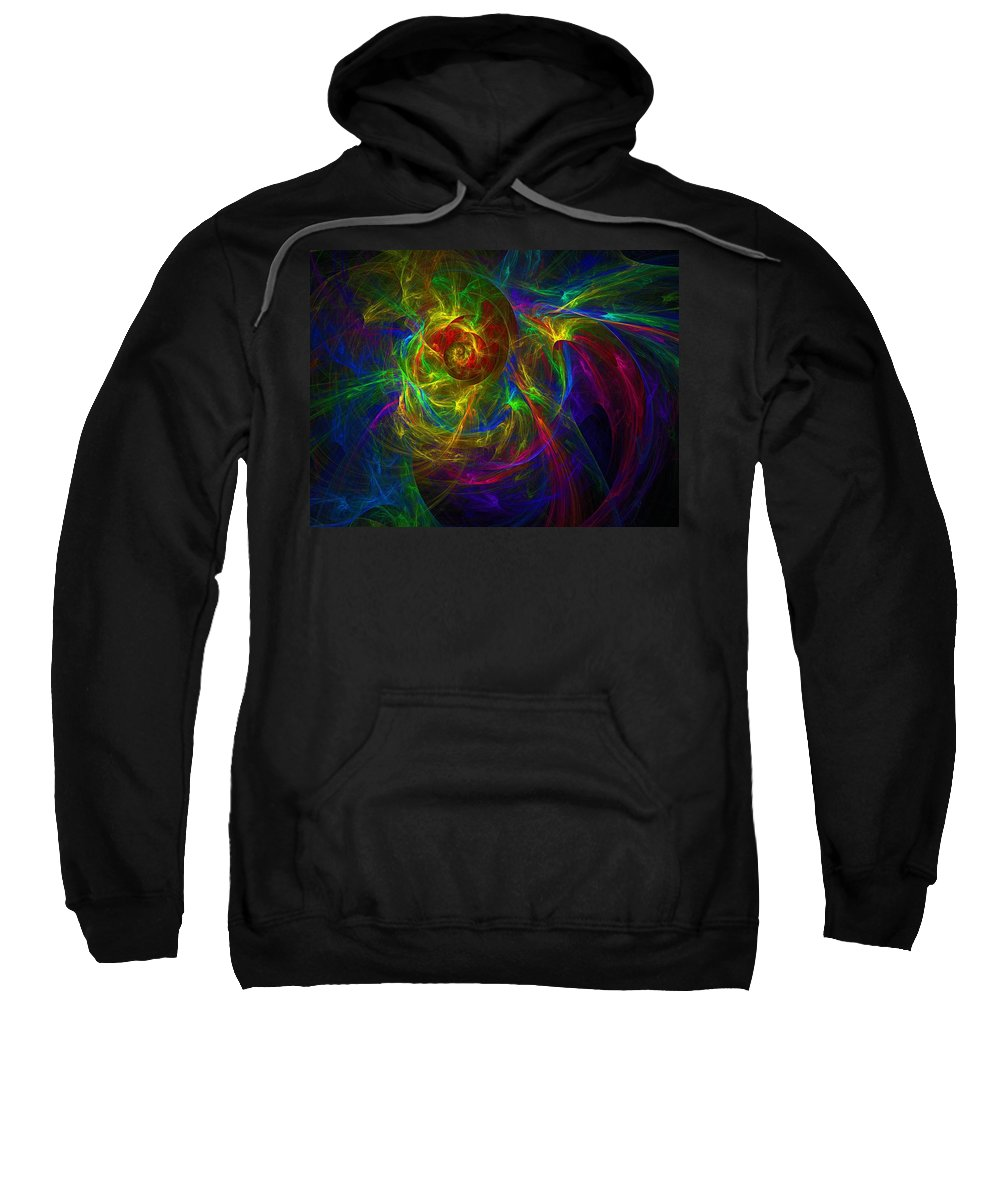 Abstract Sweatshirt featuring the digital art Conceptual Alchemy by Lyle Hatch
