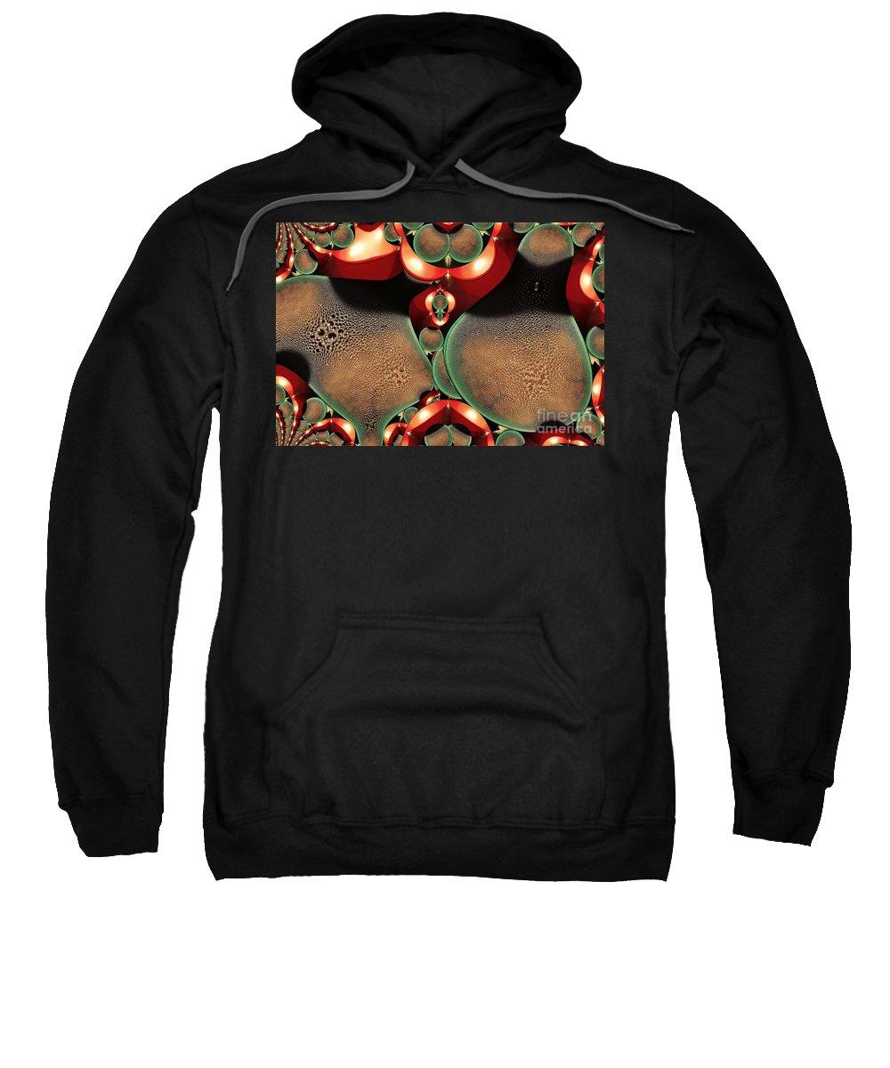 Digital Painting Sweatshirt featuring the digital art Condensation by Ron Bissett