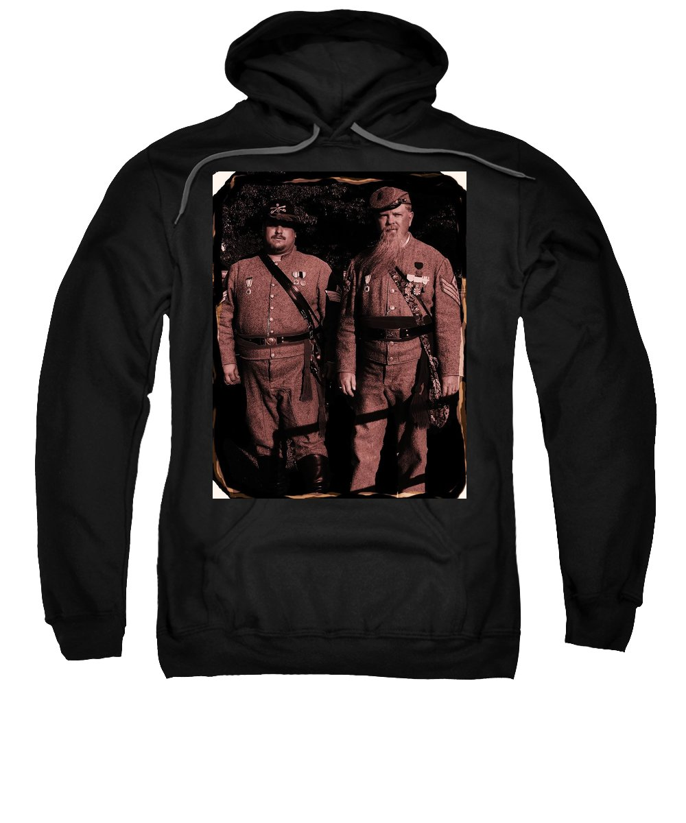 Tintype Sweatshirt featuring the photograph Confederate Tintype Civil War by Eric Schiabor