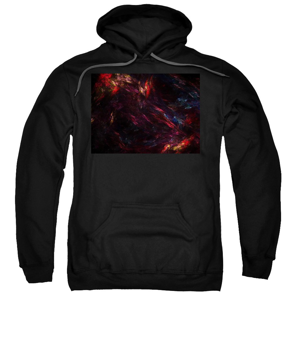 Abstract Digital Painting Sweatshirt featuring the digital art Conflict by David Lane