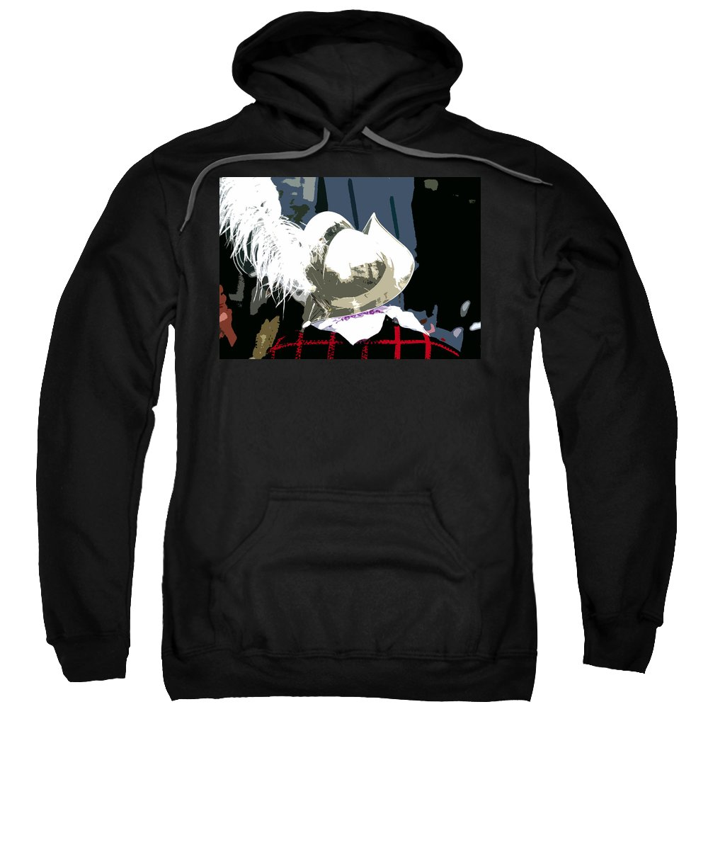 Conquistador Sweatshirt featuring the painting Conquistador by David Lee Thompson
