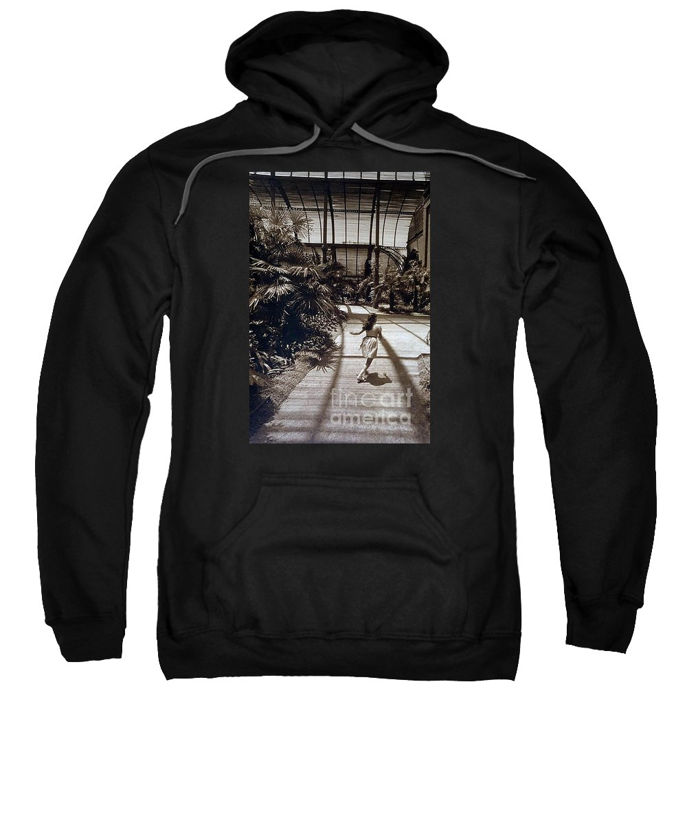 Sepia Sweatshirt featuring the photograph Conservatory, Barcelona 1976 by Michael Ziegler