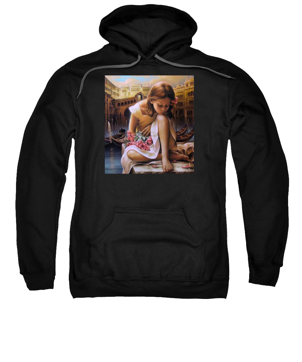 Portrait Sweatshirt featuring the painting Consuelo by Arthur Braginsky
