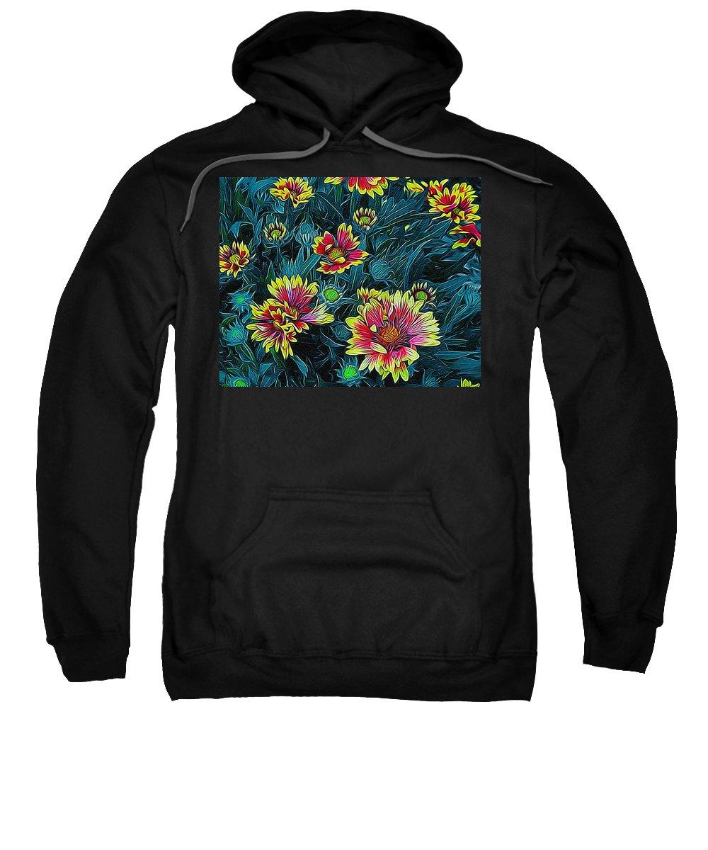 Colorful Sweatshirt featuring the digital art Contrasting Colors Digital Art by Ernie Echols