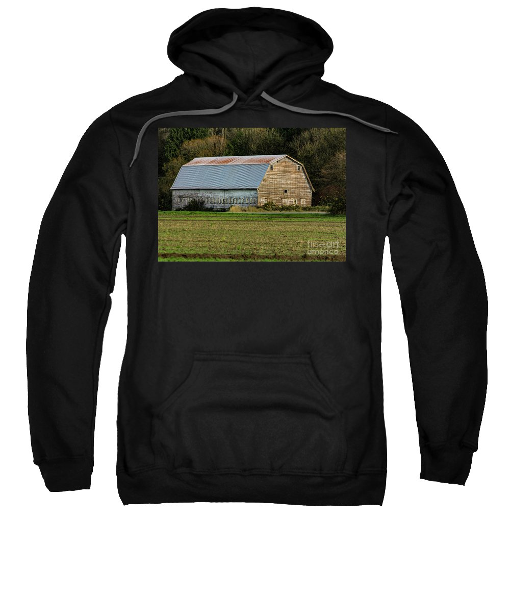 Barn Sweatshirt featuring the photograph Conway-249-edit- by Roger Patterson