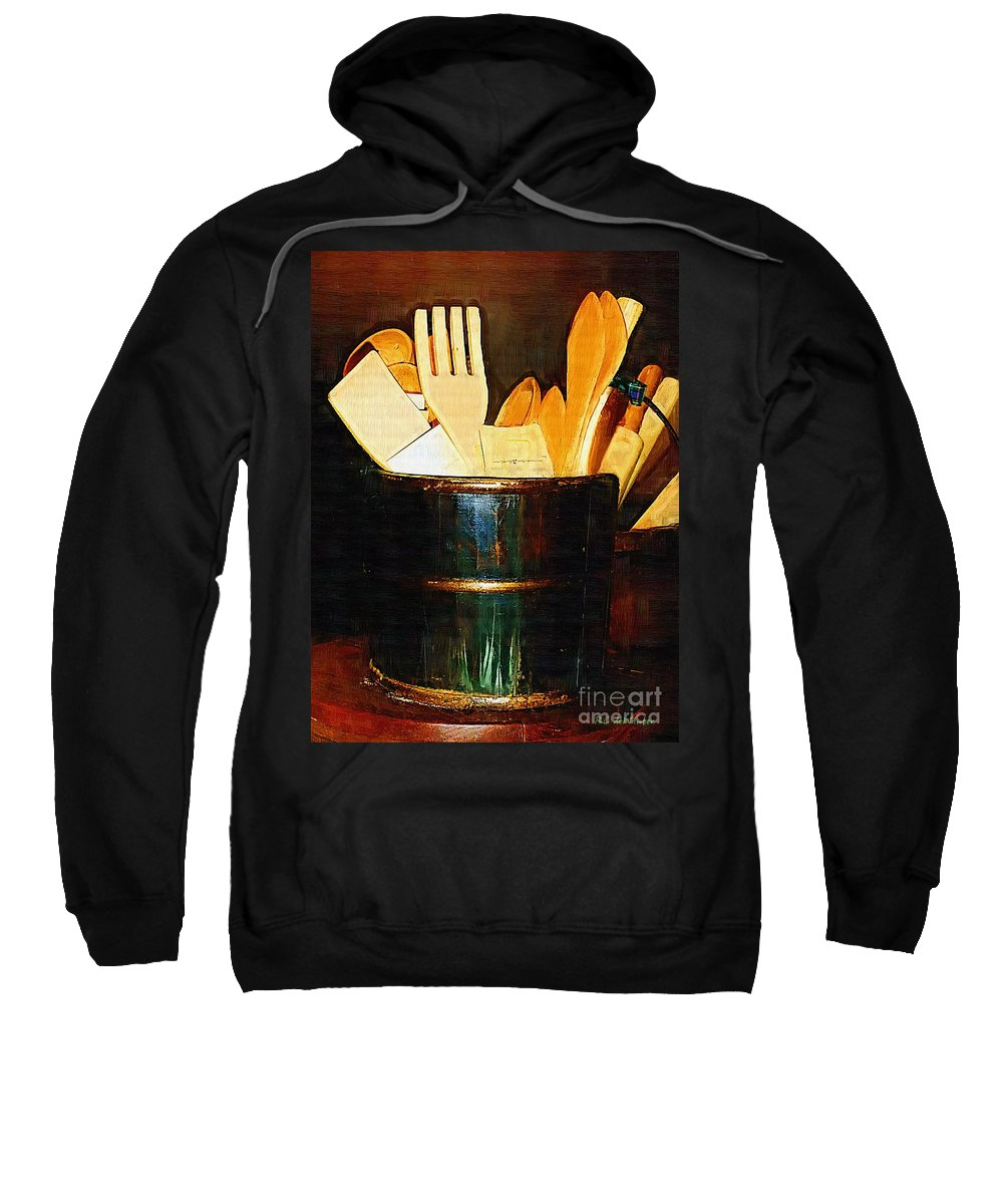 Bucket Sweatshirt featuring the painting Cooking Retro by RC DeWinter
