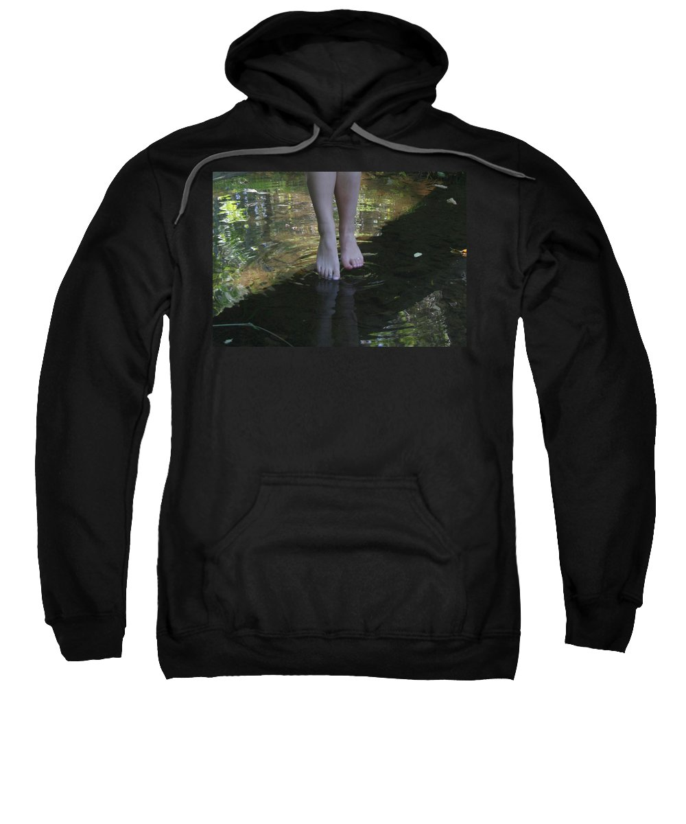 Water Sweatshirt featuring the photograph Cool Water by Rebecca Smith