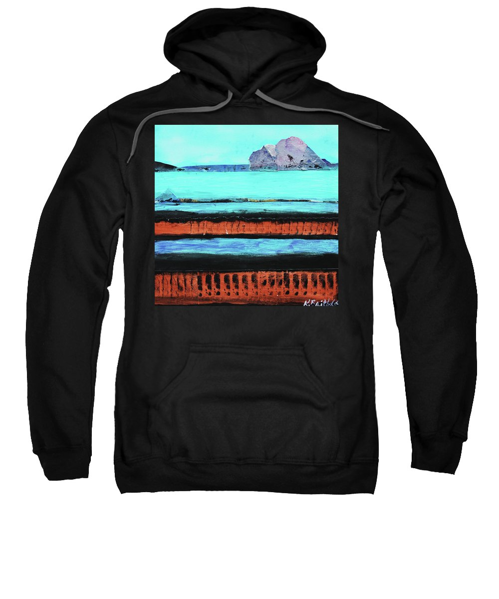 Abstract Sweatshirt featuring the painting Copper Cliffs Beachside by Karla Britfeld
