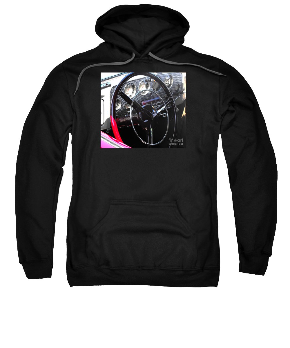 Cord Sweatshirt featuring the photograph Cord Phaeton Dashboard by Neil Zimmerman