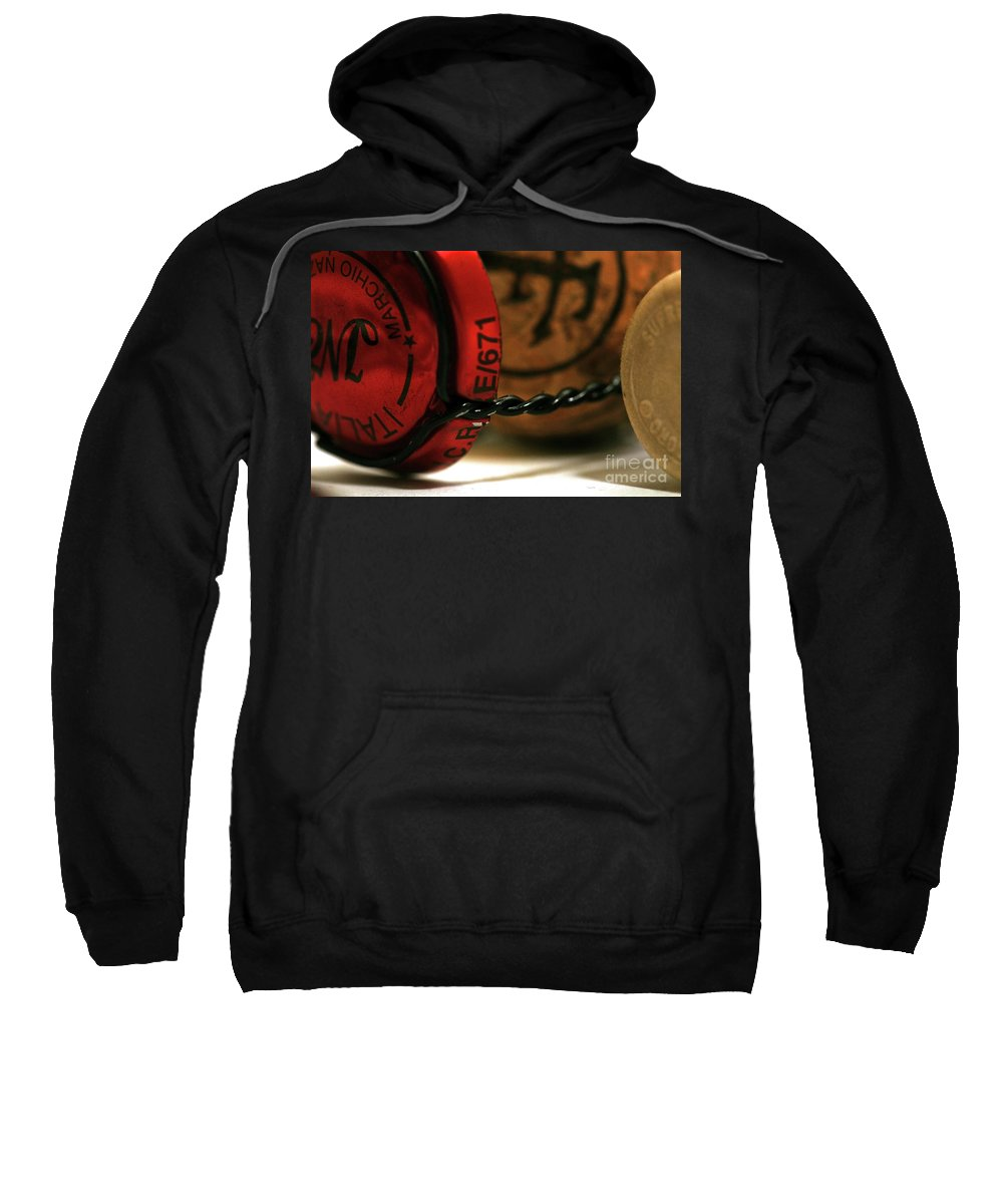 Corks Sweatshirt featuring the photograph Corks by Charuhas Images