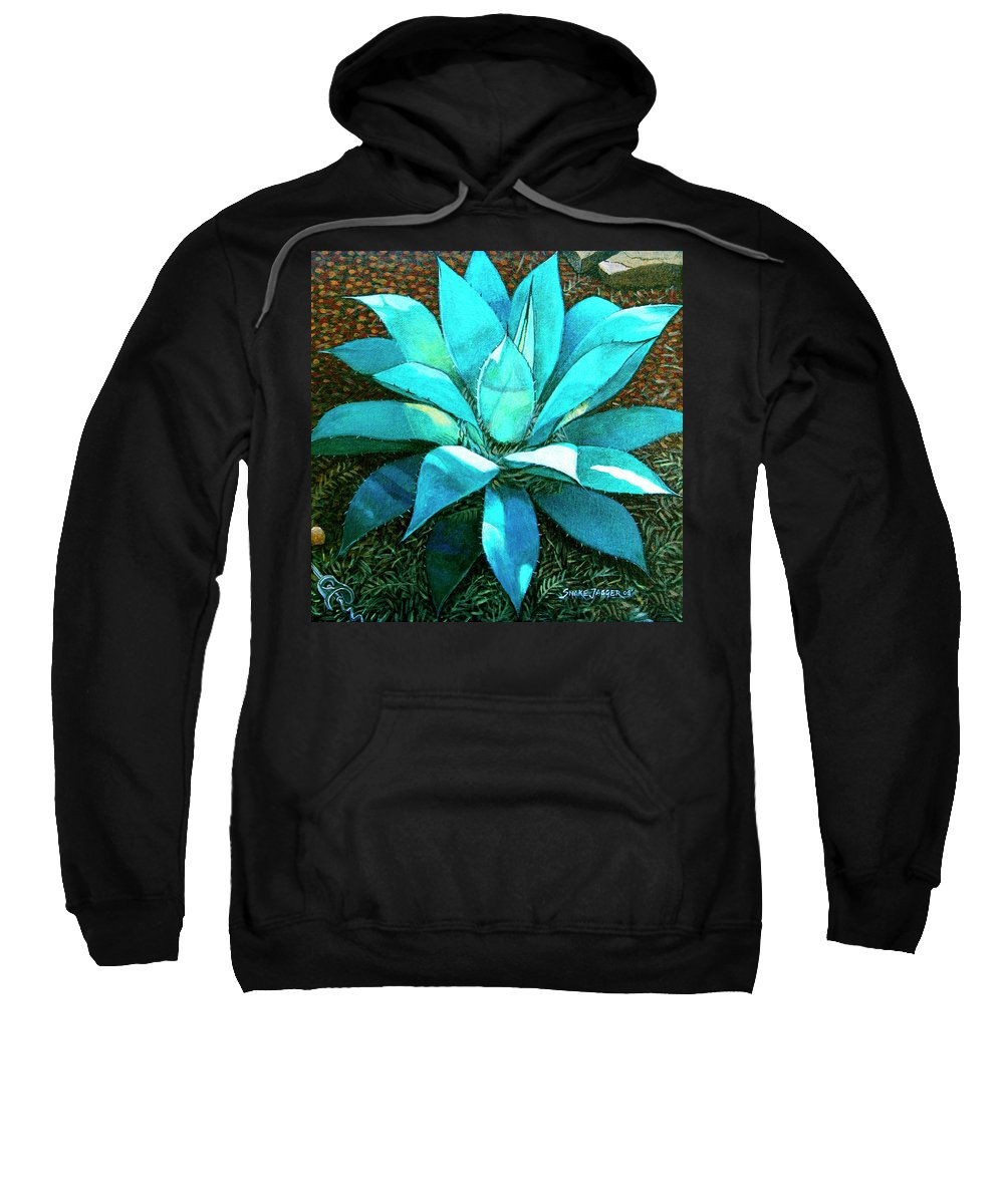 Cactus Sweatshirt featuring the painting Corkscrew by Snake Jagger