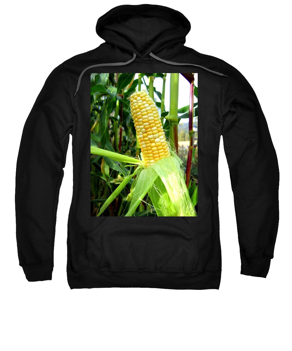 Corn Sweatshirt featuring the photograph Corn On The Cob by Will Borden