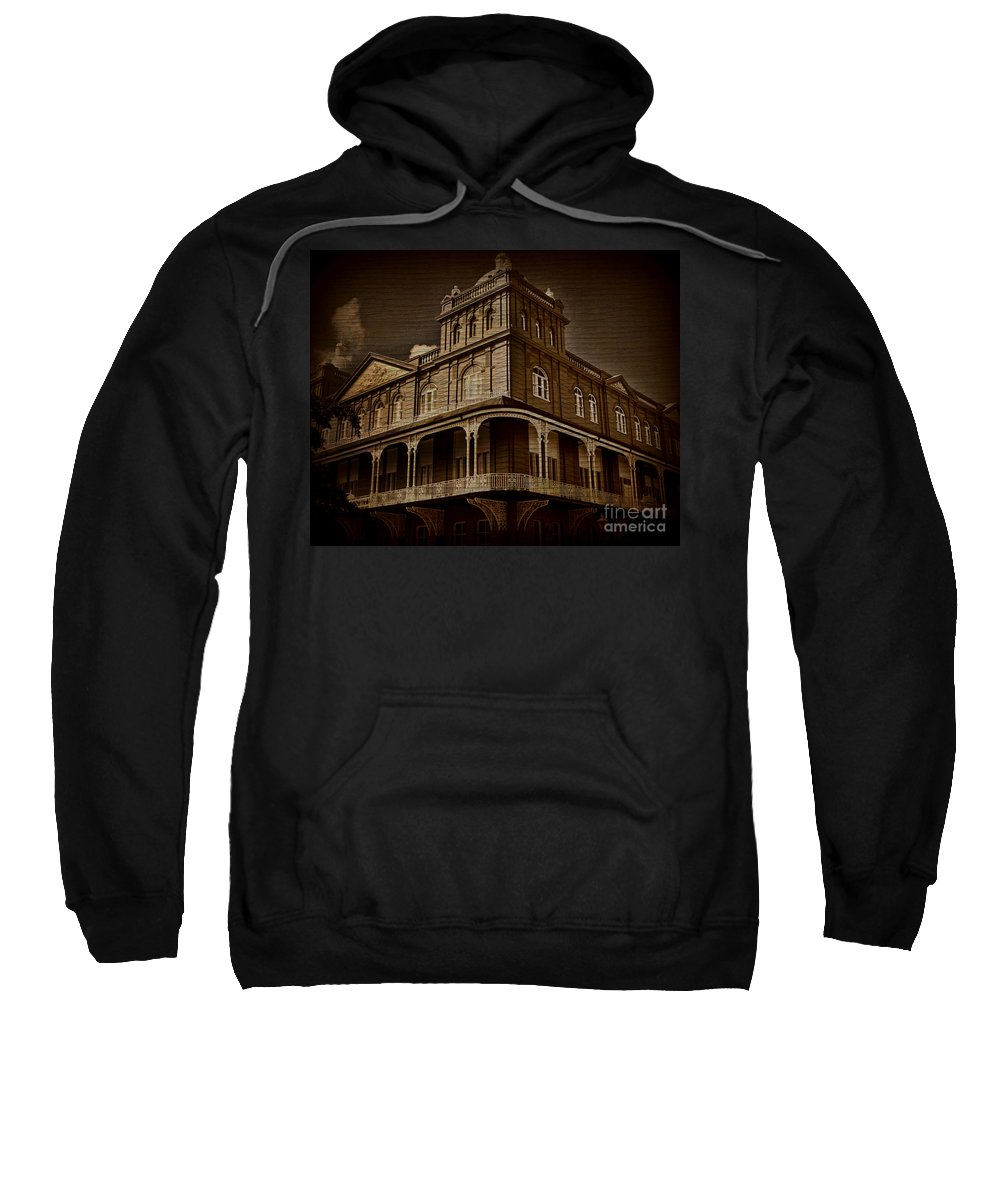 Building Sweatshirt featuring the photograph Corner Building by Perry Webster