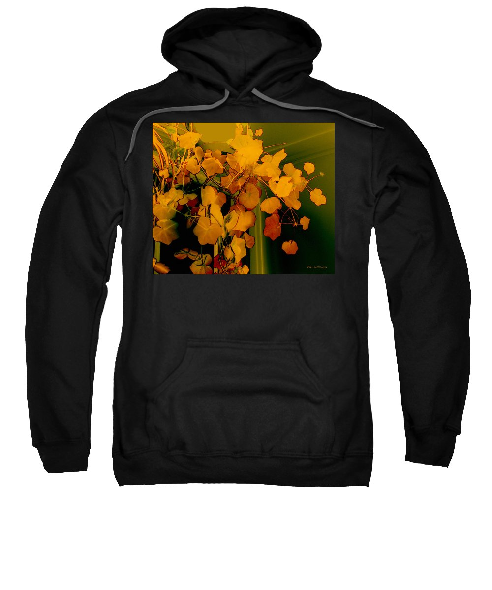 Autumn Sweatshirt featuring the digital art Corner In Green And Gold by RC DeWinter
