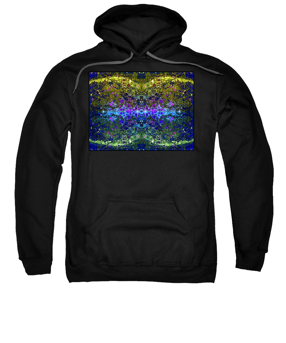 Abstract Sweatshirt featuring the photograph Cosmos Crown Jewels 2 by Angelina Tamez
