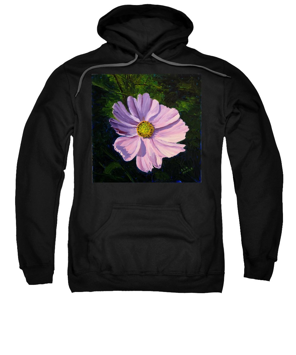 Flower Sweatshirt featuring the painting Cosmos by Lea Novak