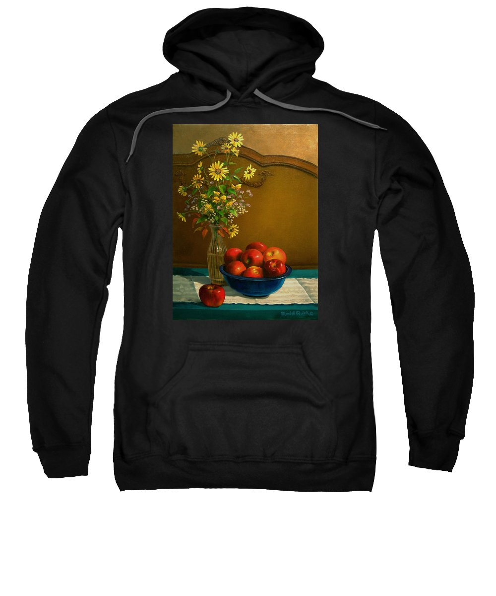 Country Apples Sweatshirt featuring the painting Country Apples by Randall R Quick