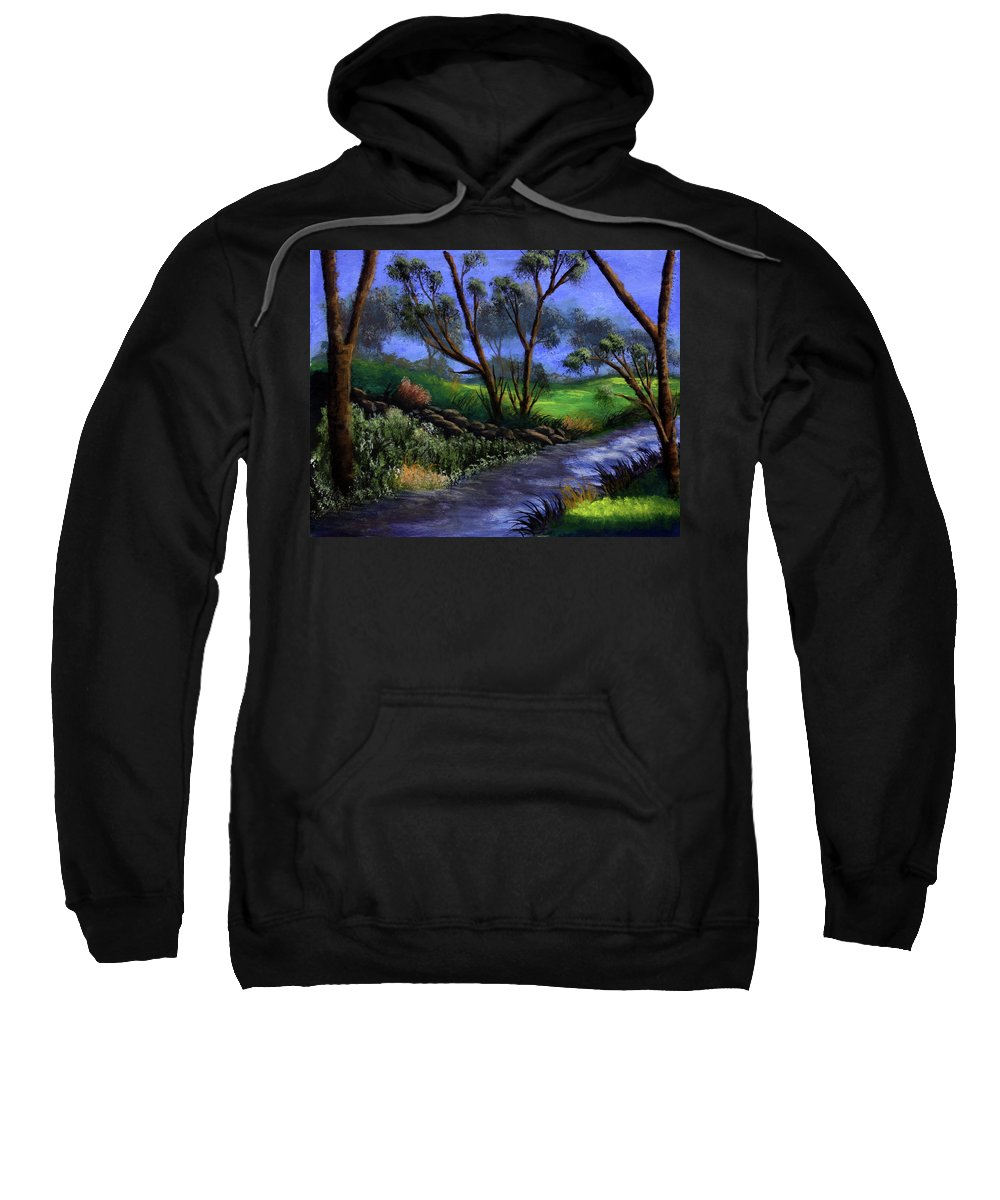 Country Club Sweatshirt featuring the painting Country Club View by Dawn Blair