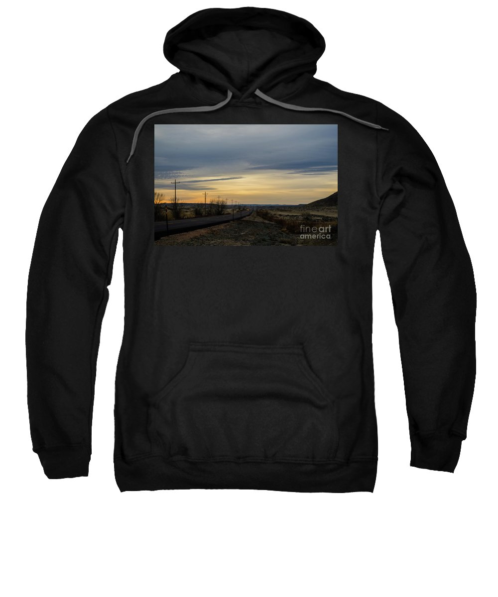 Landscape Sweatshirt featuring the photograph Country Morning School Bus by James Stewart