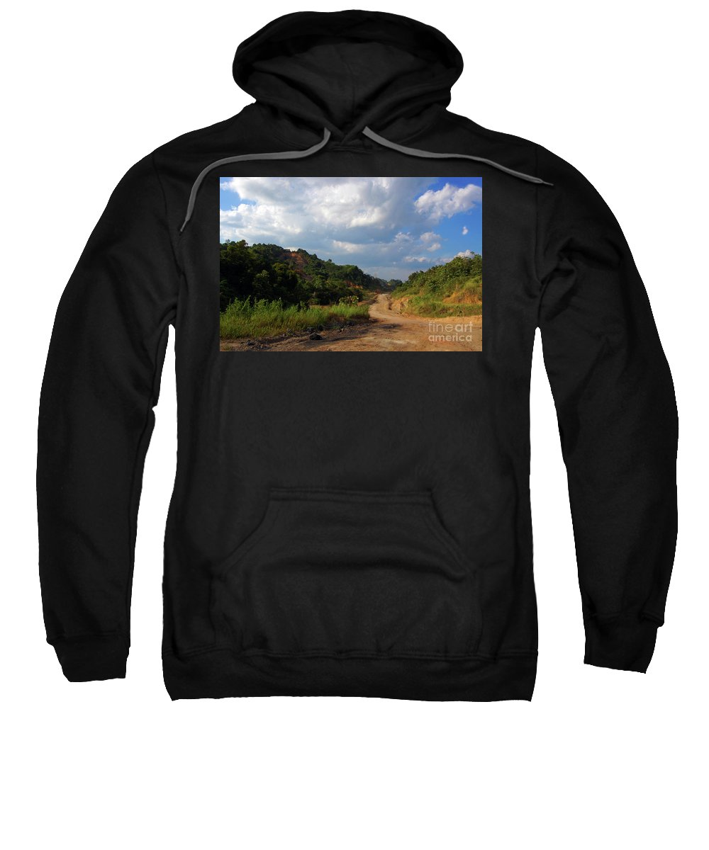 Country Road Sweatshirt featuring the photograph Country Road by Charuhas Images