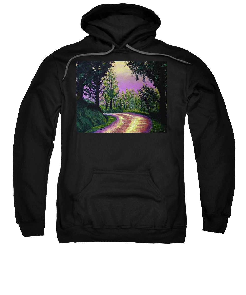 Landscape Sweatshirt featuring the painting Country Road by Stan Hamilton