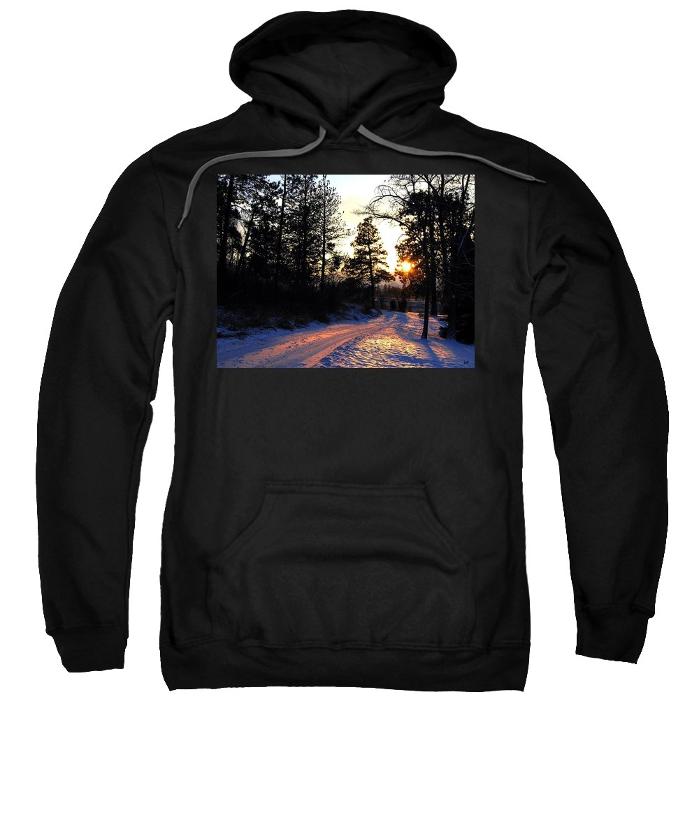 Country Road Sweatshirt featuring the photograph Country Road Sunset by Will Borden