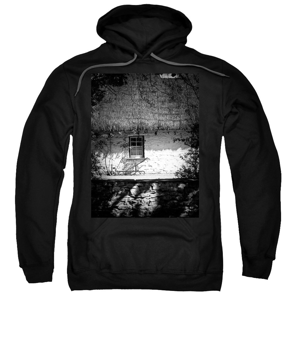 Irish Sweatshirt featuring the photograph County Clare Cottage Ireland by Teresa Mucha