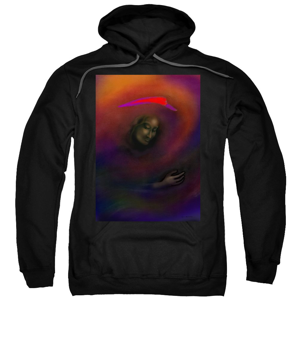 She Sweatshirt featuring the painting Courage To Create by Kevin Middleton