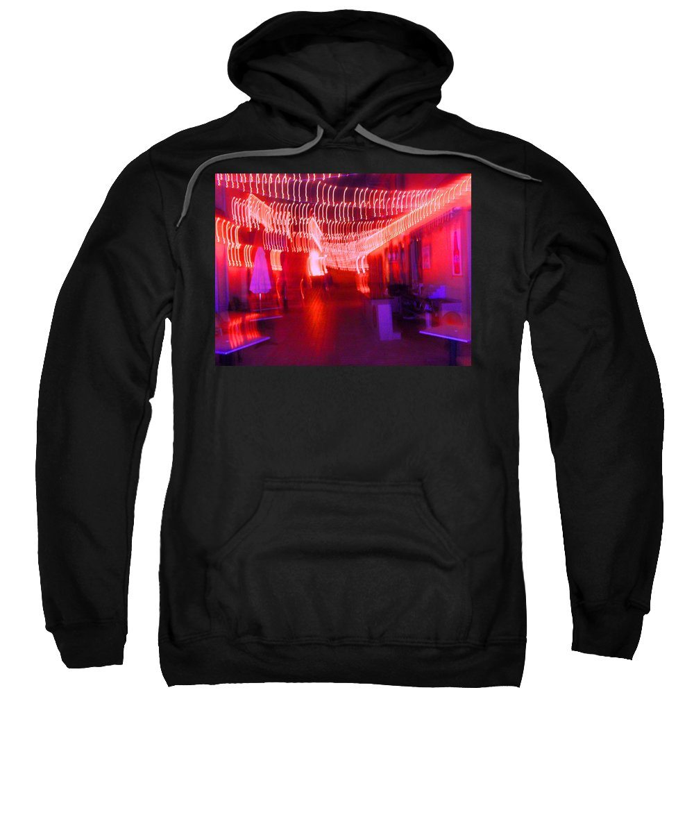 Photograph Sweatshirt featuring the photograph Courtside Lounge 2 by Thomas Valentine